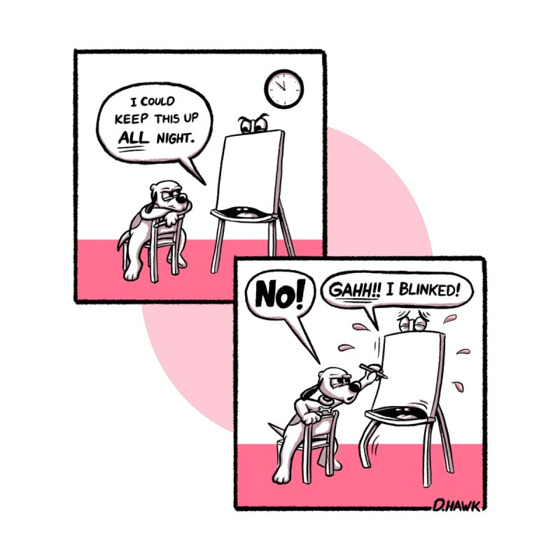 Dog Says No: Creative Block (Pink) by Incapio Art Store