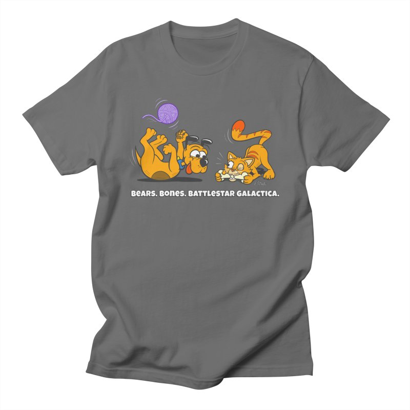 Bears. Bones. Battlestar Galactica. Men's T-Shirt by Incapio Art Store