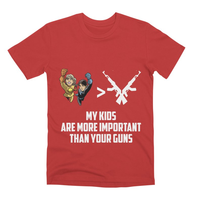 Kids > Guns Men's Premium T-Shirt by incogvito's Artist Shop