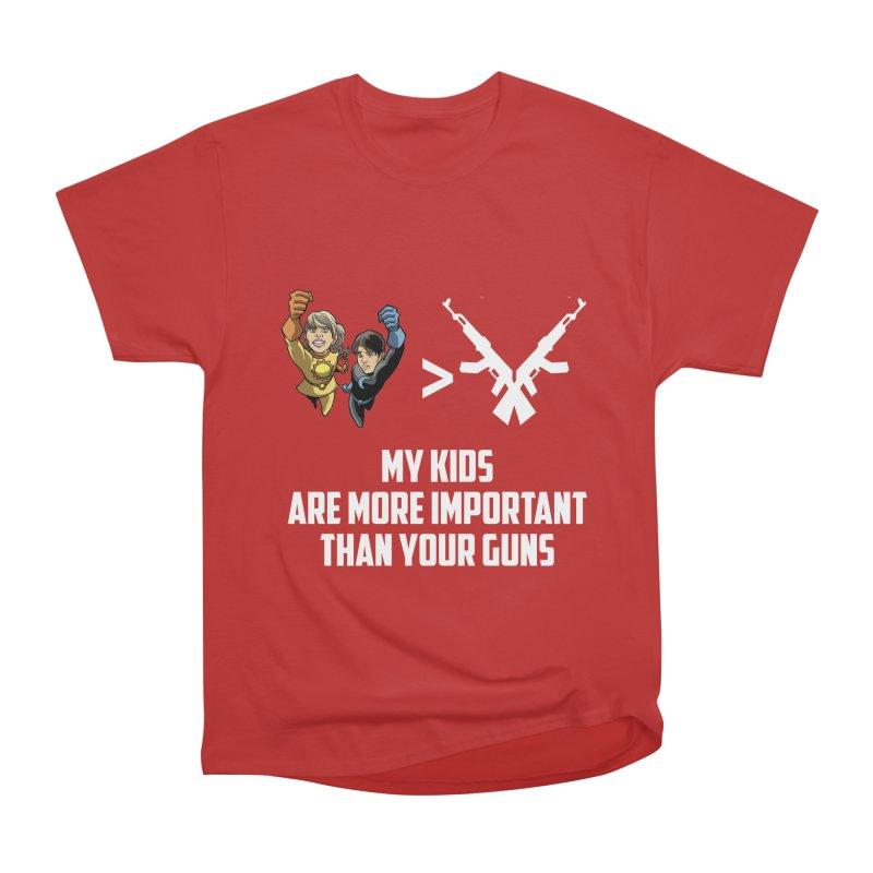 Kids > Guns Men's Heavyweight T-Shirt by incogvito's Artist Shop