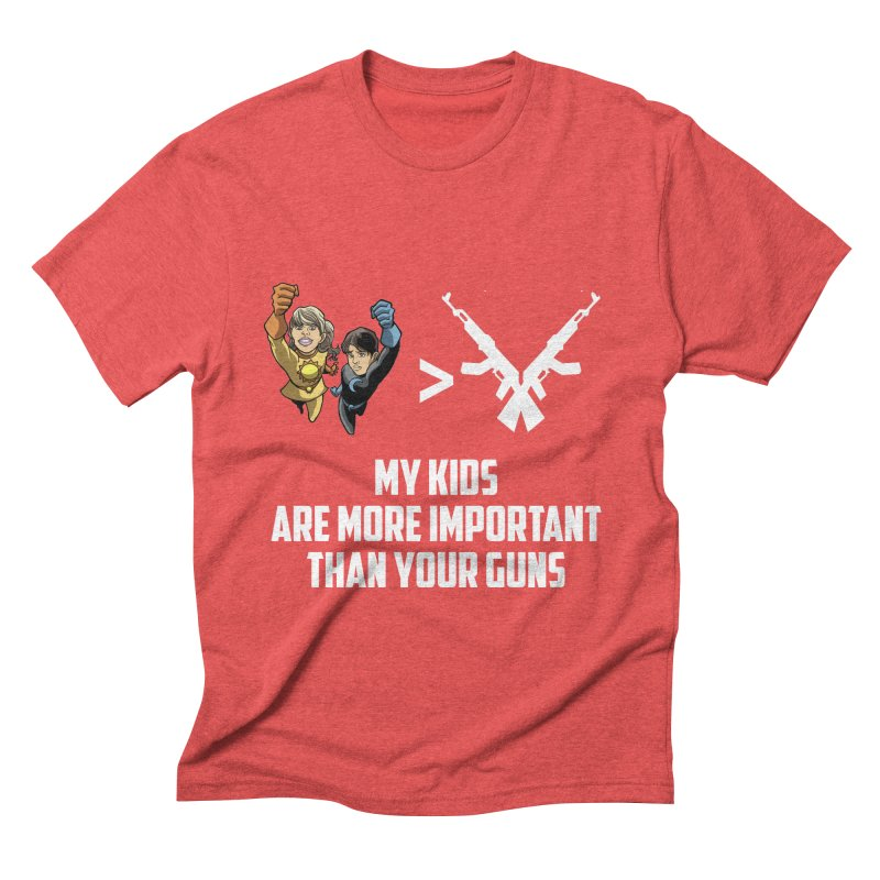 Kids > Guns Men's Triblend T-Shirt by incogvito's Artist Shop