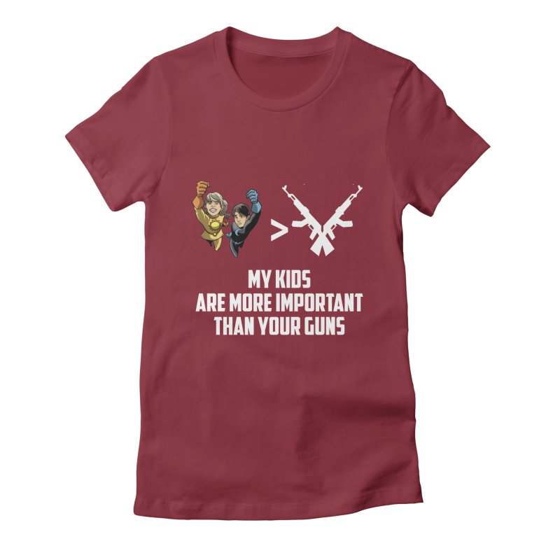 Kids > Guns Women's Fitted T-Shirt by incogvito's Artist Shop