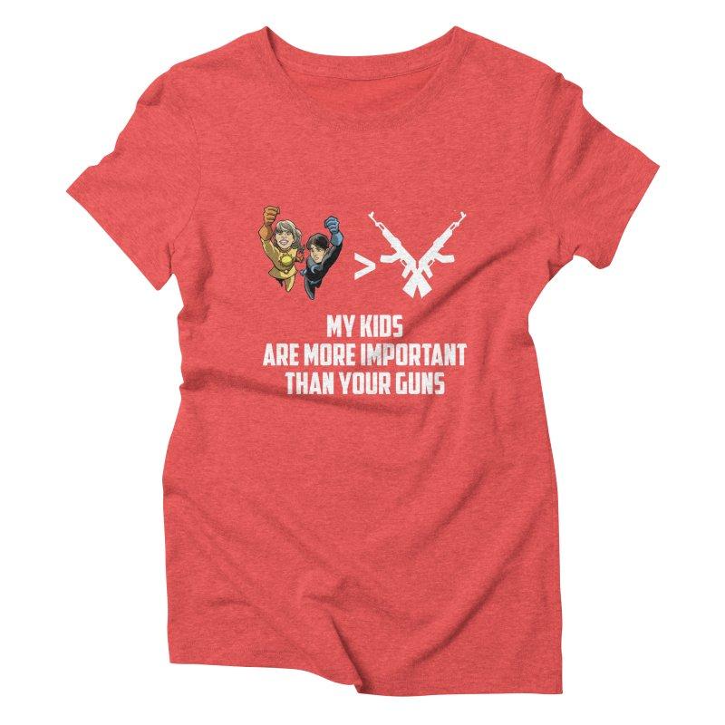 Kids > Guns Women's Triblend T-Shirt by incogvito's Artist Shop
