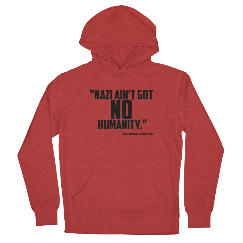 No Humanity Quote Men's French Terry Pullover Hoody by incogvito's Artist Shop