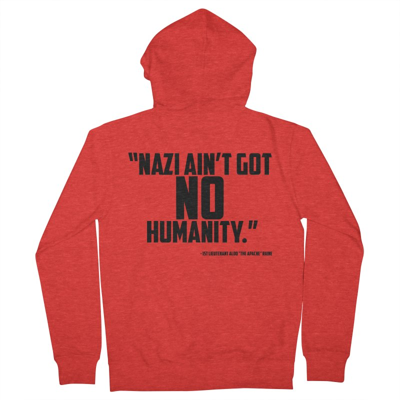 No Humanity Quote Women's Zip-Up Hoody by incogvito's Artist Shop