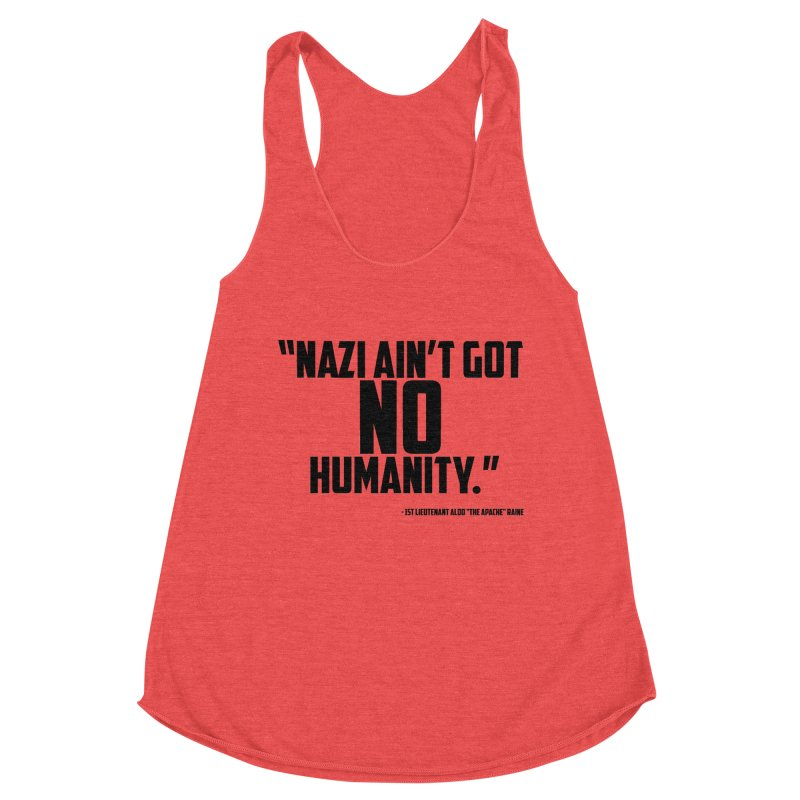 No Humanity Quote Women's Racerback Triblend Tank by incogvito's Artist Shop
