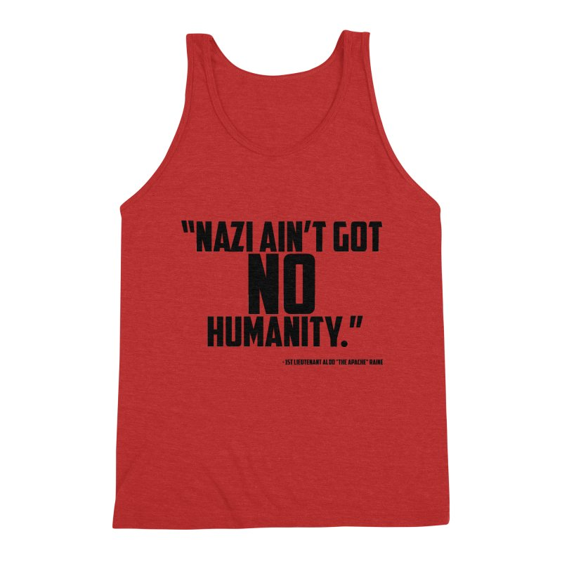 No Humanity Quote Men's Triblend Tank by incogvito's Artist Shop