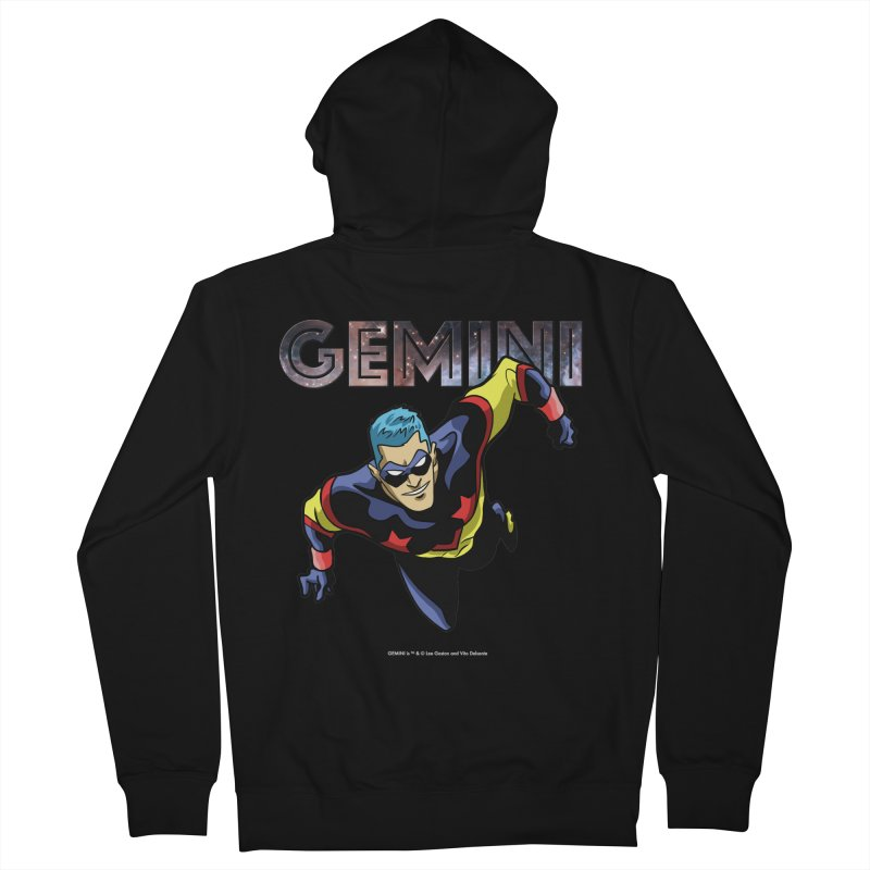 Gemini - Take Flight Men's French Terry Zip-Up Hoody by incogvito's Artist Shop