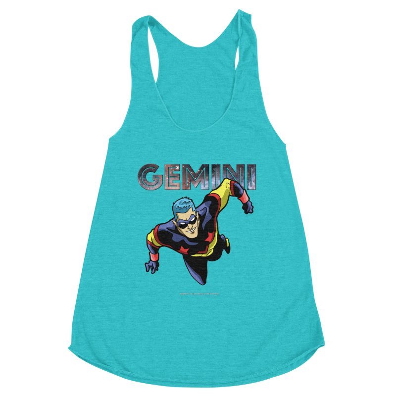 Gemini - Take Flight Women's Racerback Triblend Tank by incogvito's Artist Shop