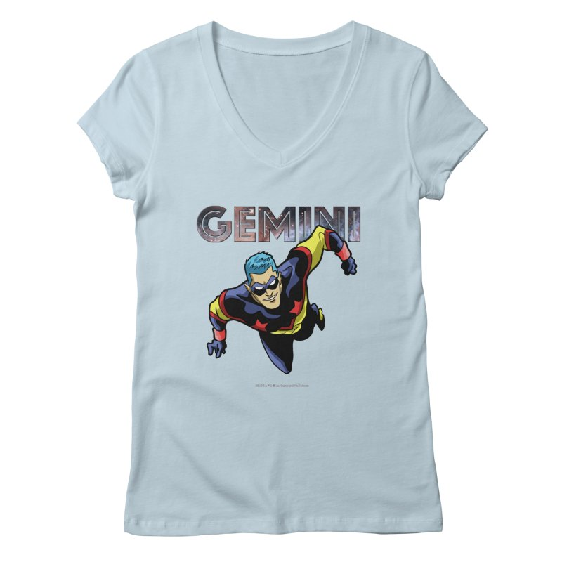 Gemini - Take Flight Women's Regular V-Neck by incogvito's Artist Shop