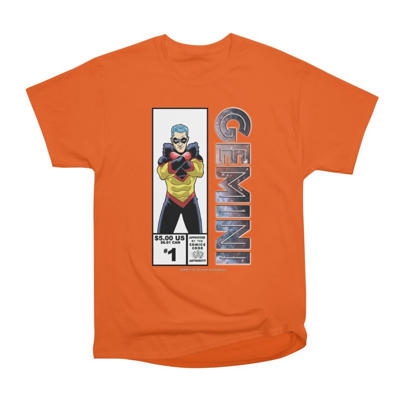 Gemini - Retro Corner Box Men's Heavyweight T-Shirt by incogvito's Artist Shop