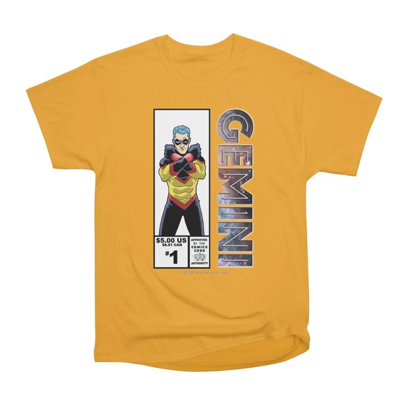 Gemini - Retro Corner Box Women's Heavyweight Unisex T-Shirt by incogvito's Artist Shop