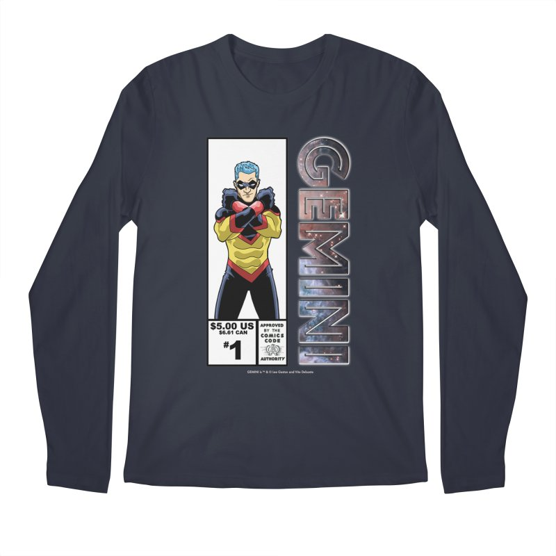 Gemini - Retro Corner Box Men's Longsleeve T-Shirt by incogvito's Artist Shop