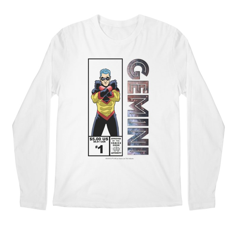 Gemini - Retro Corner Box Men's Regular Longsleeve T-Shirt by incogvito's Artist Shop