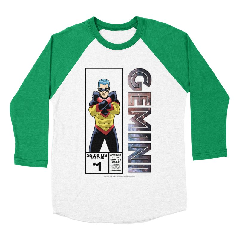 Gemini - Retro Corner Box Men's Baseball Triblend Longsleeve T-Shirt by incogvito's Artist Shop