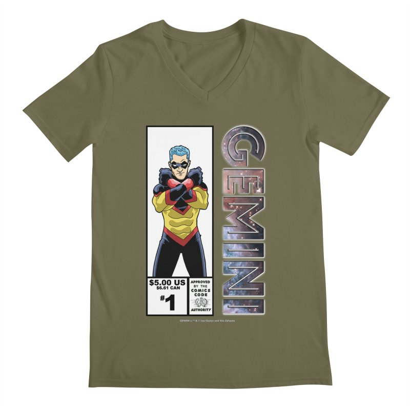 Gemini - Retro Corner Box Men's Regular V-Neck by incogvito's Artist Shop