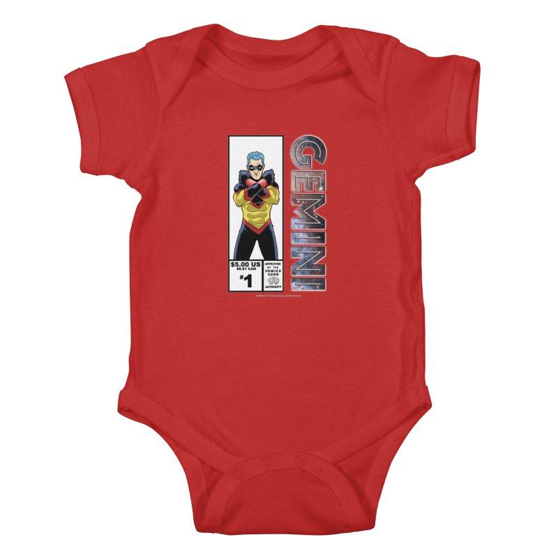 Gemini - Retro Corner Box Kids Baby Bodysuit by incogvito's Artist Shop