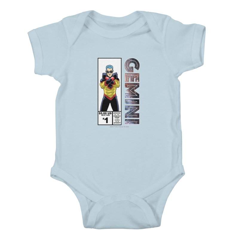 Gemini - Retro Corner Box Kids Baby Bodysuit by incogvito's Artist Shop