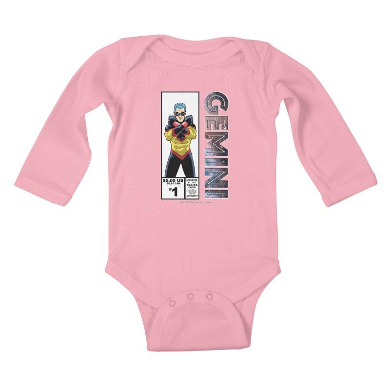 Gemini - Retro Corner Box Kids Baby Longsleeve Bodysuit by incogvito's Artist Shop