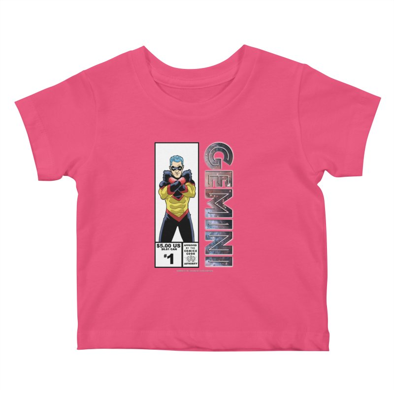 Gemini - Retro Corner Box Kids Baby T-Shirt by incogvito's Artist Shop