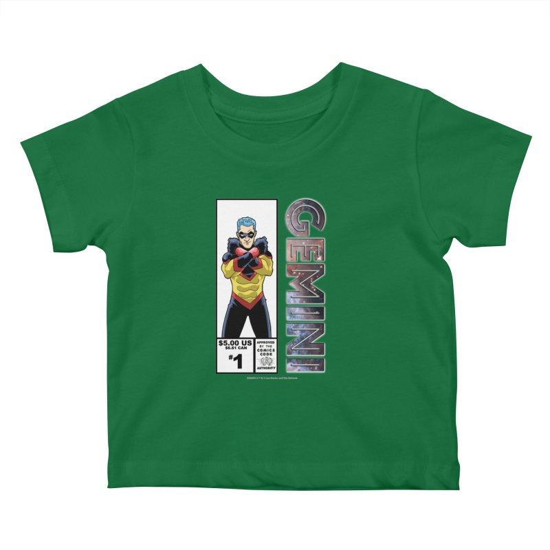 Gemini - Retro Corner Box Kids Baby T-Shirt by incogvito's Artist Shop