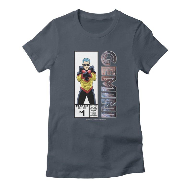Gemini - Retro Corner Box Women's T-Shirt by incogvito's Artist Shop
