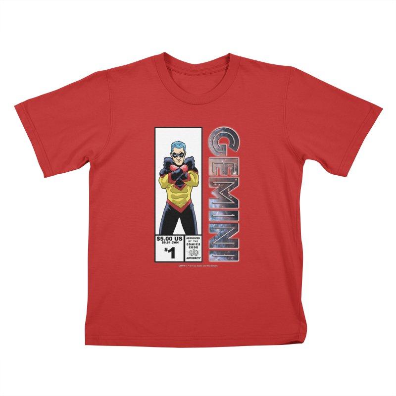 Gemini - Retro Corner Box Kids T-Shirt by incogvito's Artist Shop