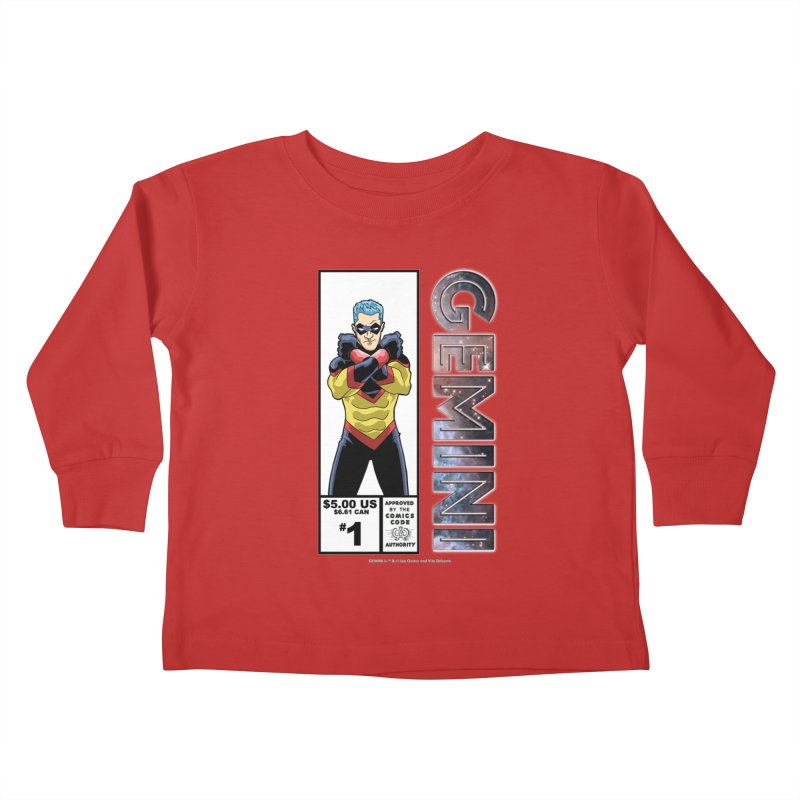 Gemini - Retro Corner Box Kids Toddler Longsleeve T-Shirt by incogvito's Artist Shop