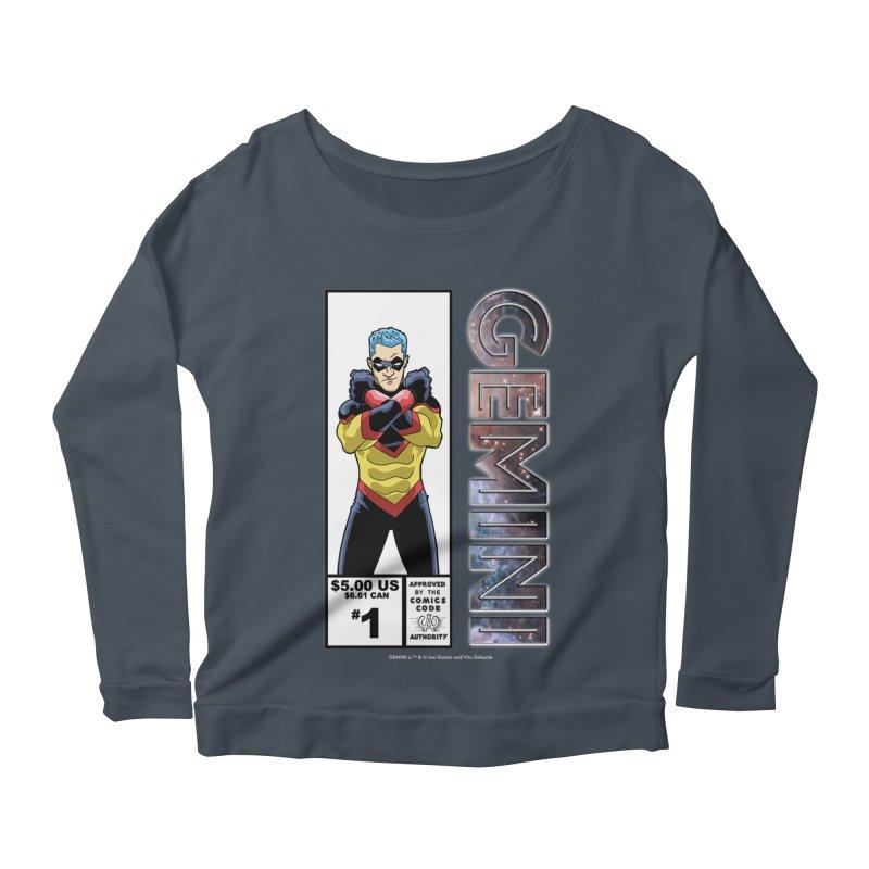 Gemini - Retro Corner Box Women's Scoop Neck Longsleeve T-Shirt by incogvito's Artist Shop