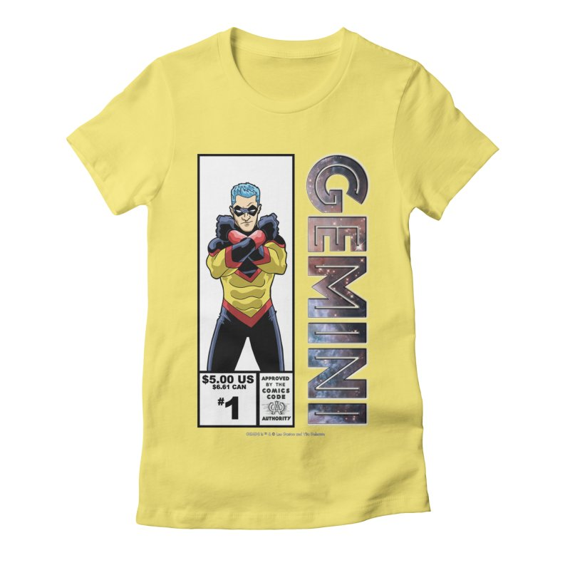 Gemini - Retro Corner Box Women's Fitted T-Shirt by incogvito's Artist Shop