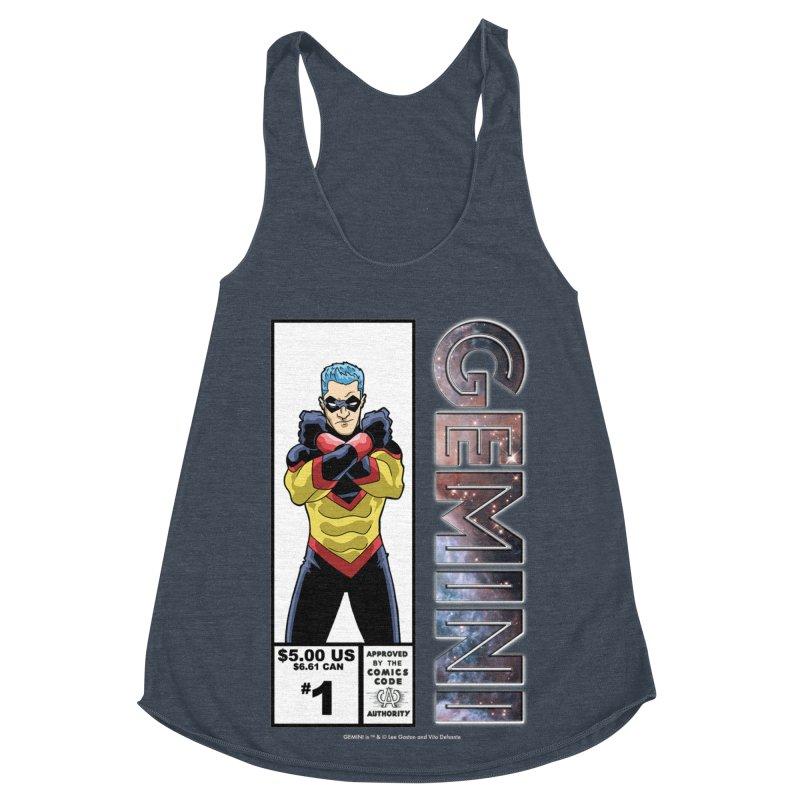 Gemini - Retro Corner Box Women's Racerback Triblend Tank by incogvito's Artist Shop