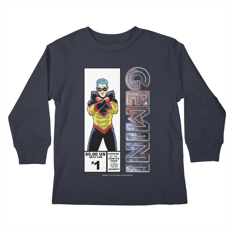 Gemini - Retro Corner Box Kids Longsleeve T-Shirt by incogvito's Artist Shop