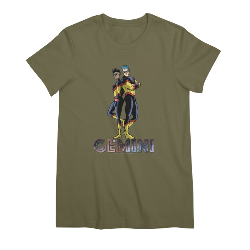 Gemini - Daring Duo Women's Premium T-Shirt by incogvito's Artist Shop