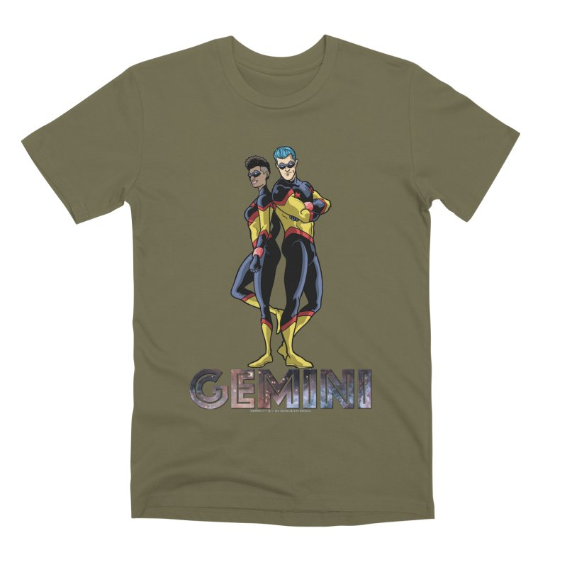 Gemini - Daring Duo Men's Premium T-Shirt by incogvito's Artist Shop