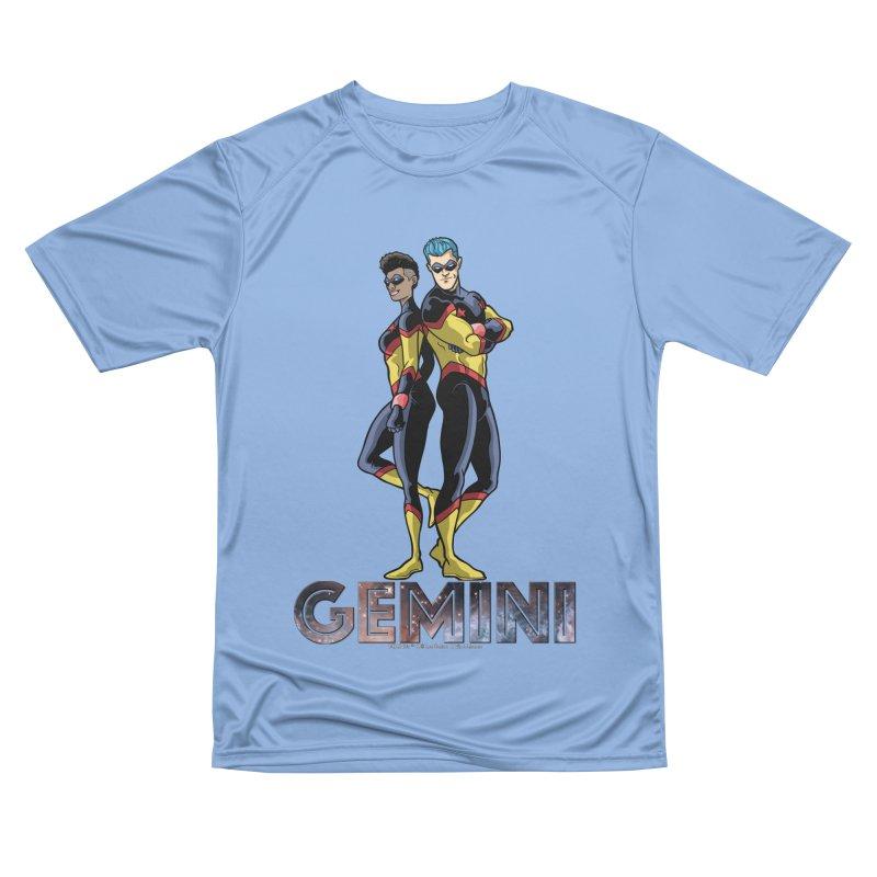 Gemini - Daring Duo Men's Performance T-Shirt by incogvito's Artist Shop
