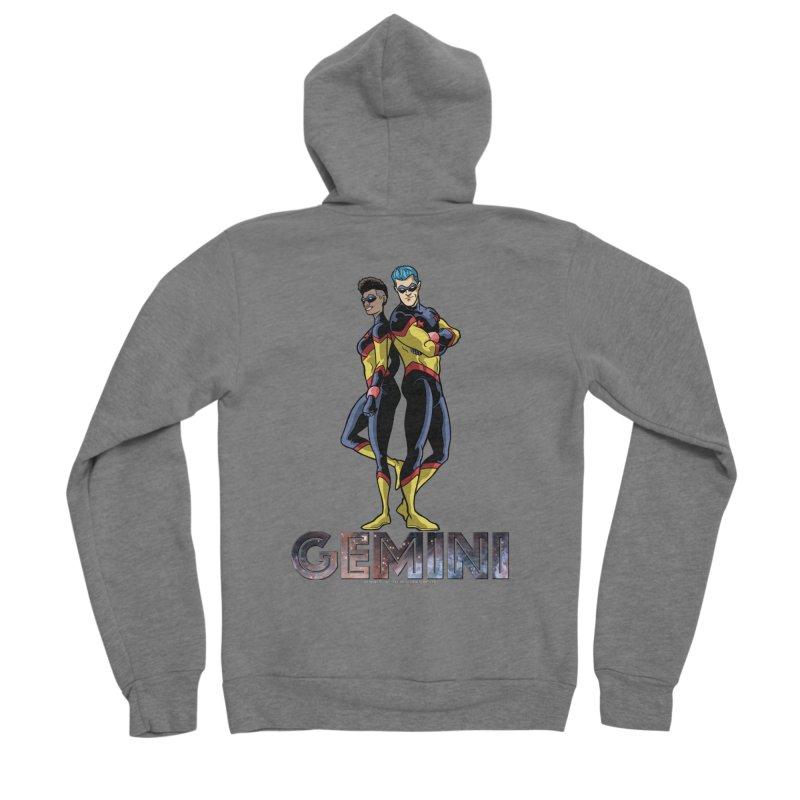 Gemini - Daring Duo Men's Sponge Fleece Zip-Up Hoody by incogvito's Artist Shop