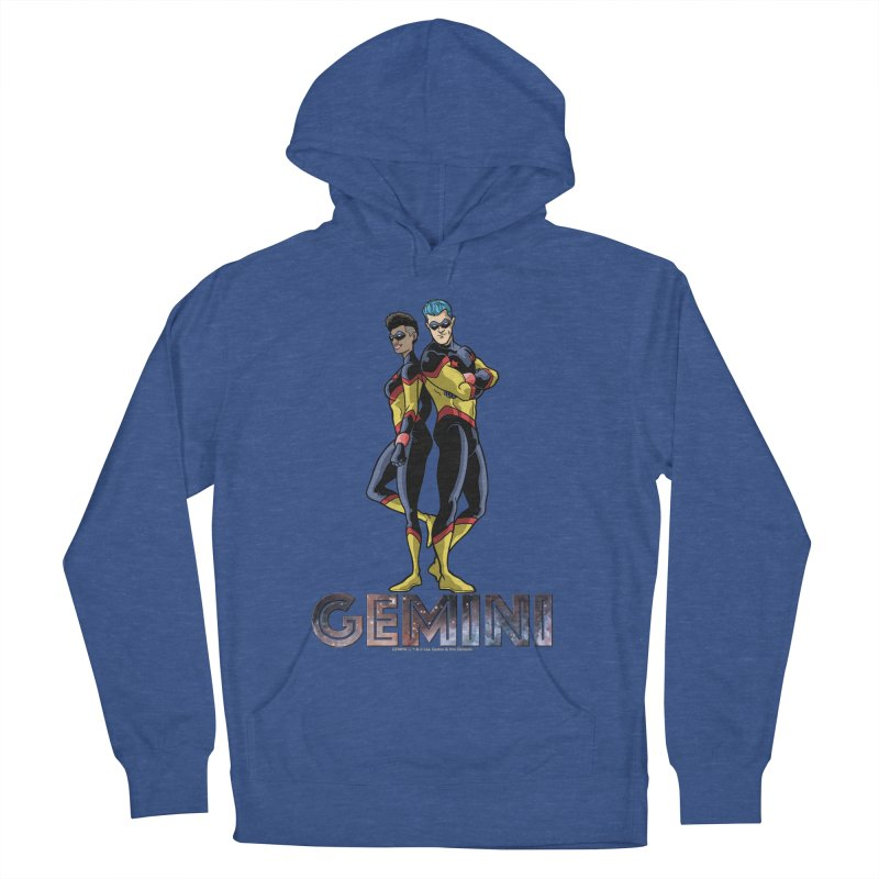 Gemini - Daring Duo Men's French Terry Pullover Hoody by incogvito's Artist Shop