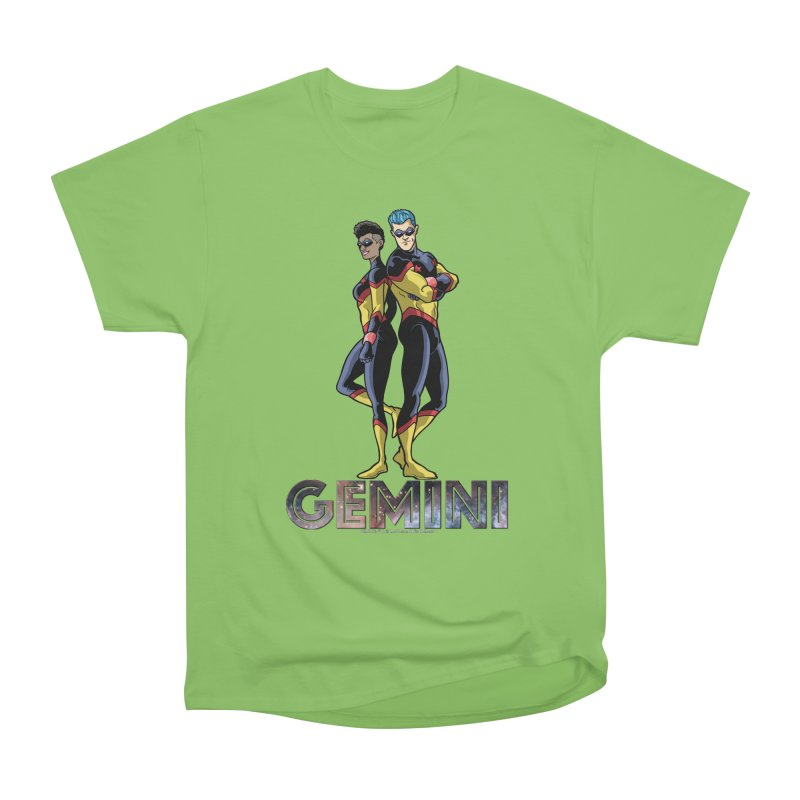 Gemini - Daring Duo Men's Heavyweight T-Shirt by incogvito's Artist Shop