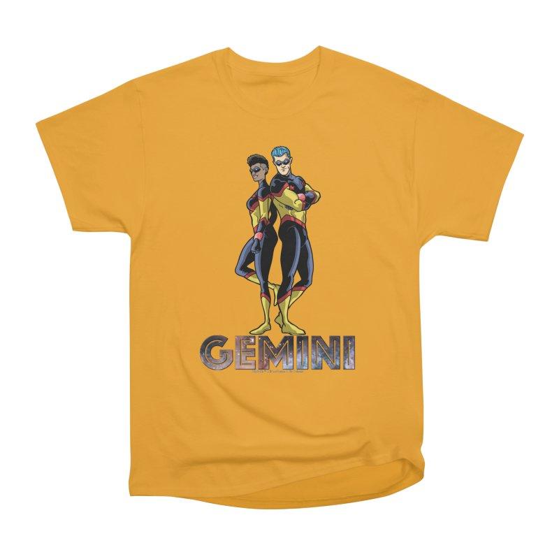Gemini - Daring Duo Women's Heavyweight Unisex T-Shirt by incogvito's Artist Shop