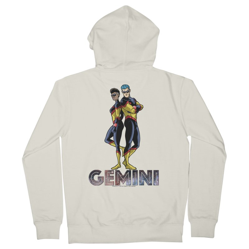 Gemini - Daring Duo Women's French Terry Zip-Up Hoody by incogvito's Artist Shop
