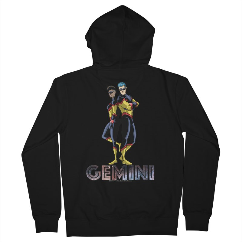 Gemini - Daring Duo Men's French Terry Zip-Up Hoody by incogvito's Artist Shop