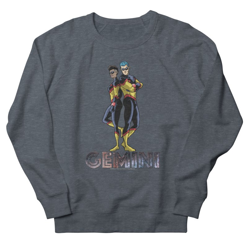 Gemini - Daring Duo Men's French Terry Sweatshirt by incogvito's Artist Shop
