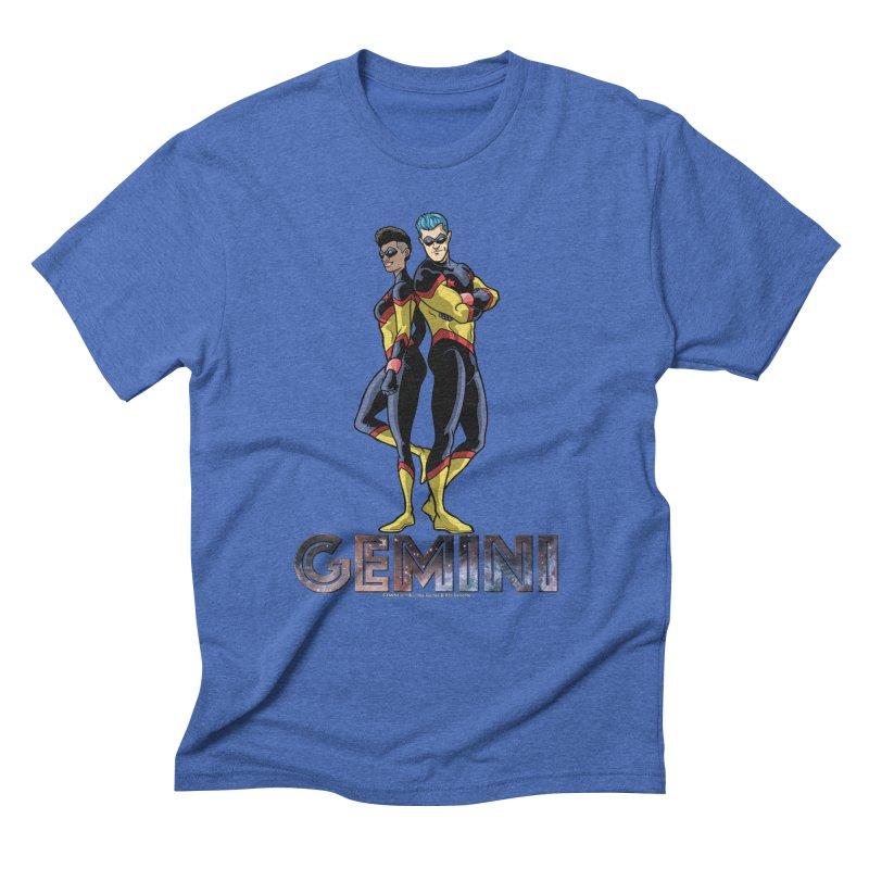 Gemini - Daring Duo Men's Triblend T-Shirt by incogvito's Artist Shop