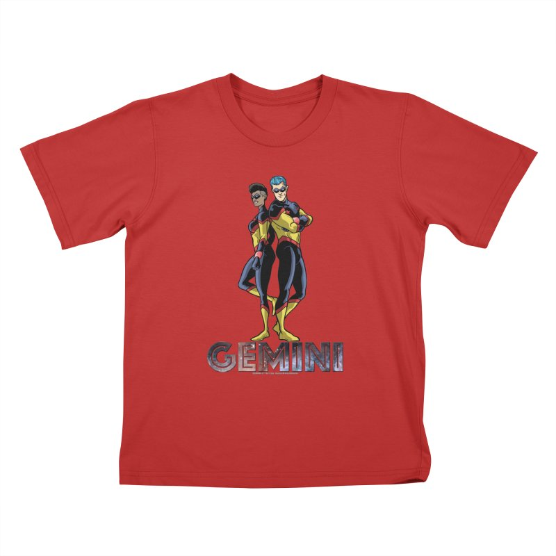 Gemini - Daring Duo Kids T-Shirt by incogvito's Artist Shop