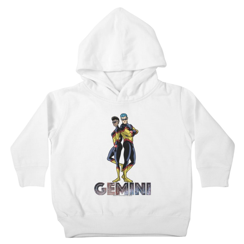 Gemini - Daring Duo Kids Toddler Pullover Hoody by incogvito's Artist Shop