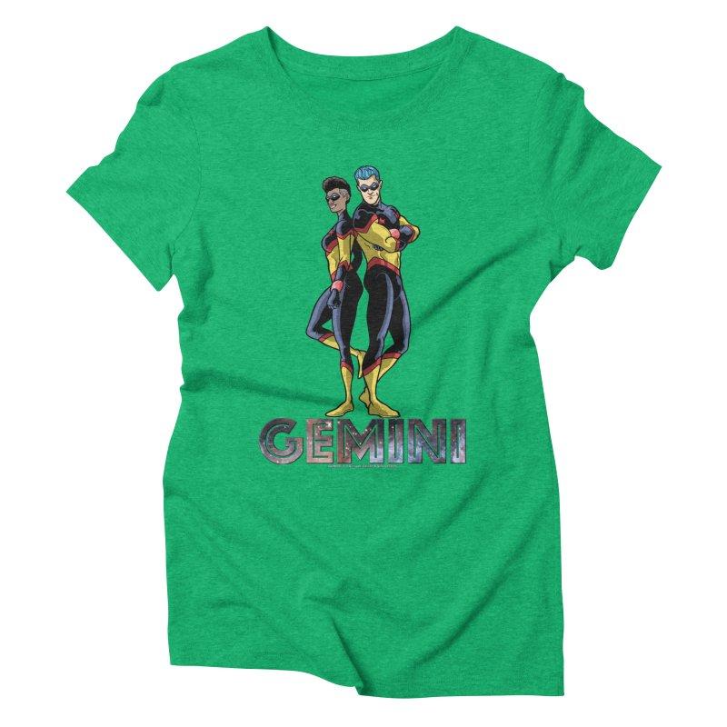 Gemini - Daring Duo Women's Triblend T-Shirt by incogvito's Artist Shop