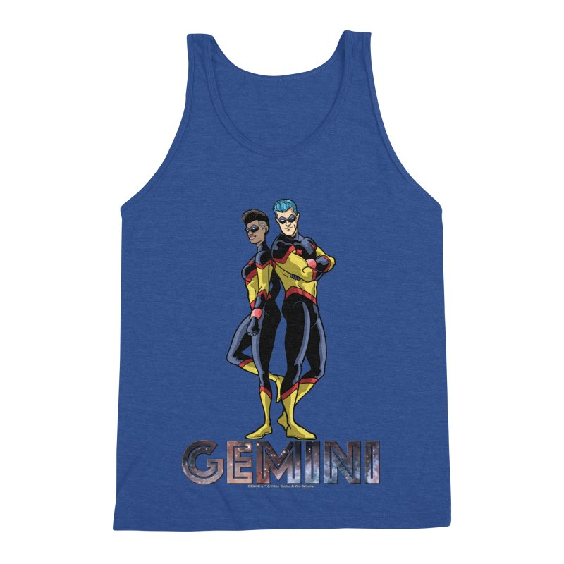 Gemini - Daring Duo Men's Triblend Tank by incogvito's Artist Shop