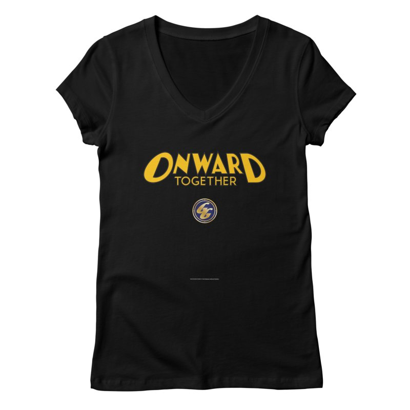 The Golden Guard: Onward Together Women's V-Neck by incogvito's Artist Shop
