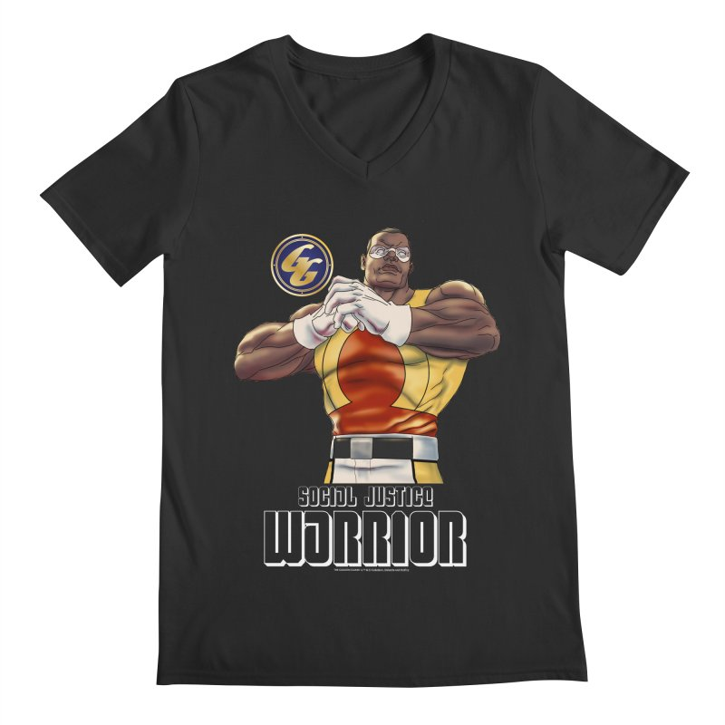 Social Justice Warrior - Cadmus Men's Regular V-Neck by incogvito's Artist Shop