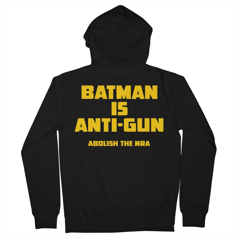 Anti Gun Men's French Terry Zip-Up Hoody by incogvito's Artist Shop